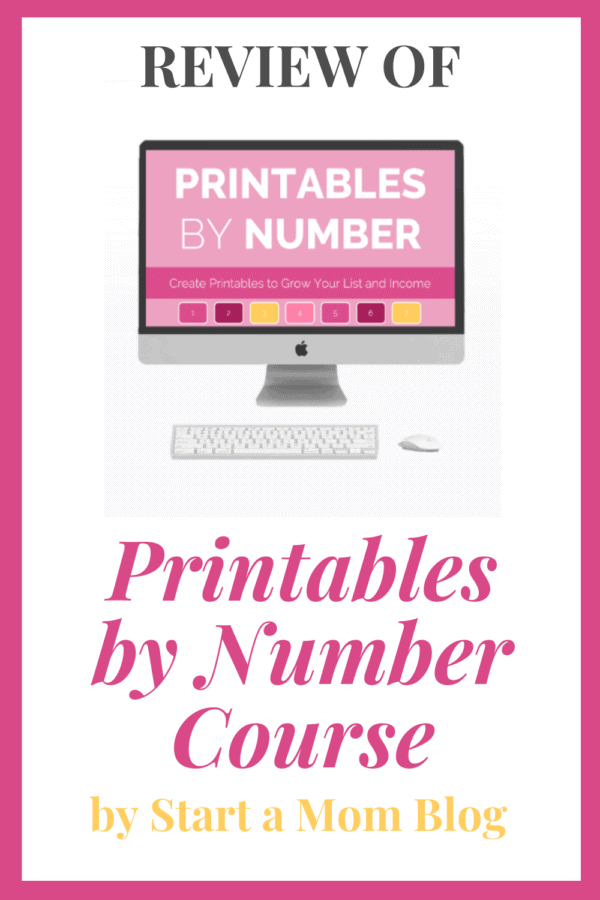 Review of Printables by Number Course