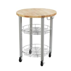 Round kitchen storage cart