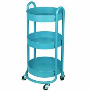 Blue storage cart