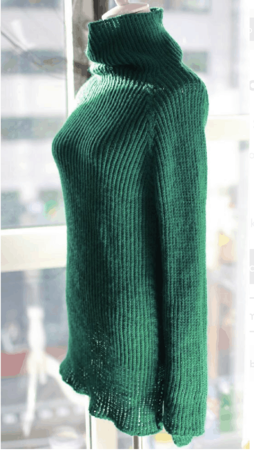 Bamboo knitted sweater