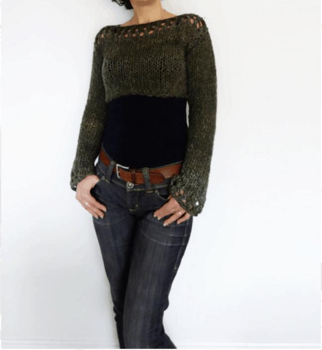 Woodland Cropped Sweater