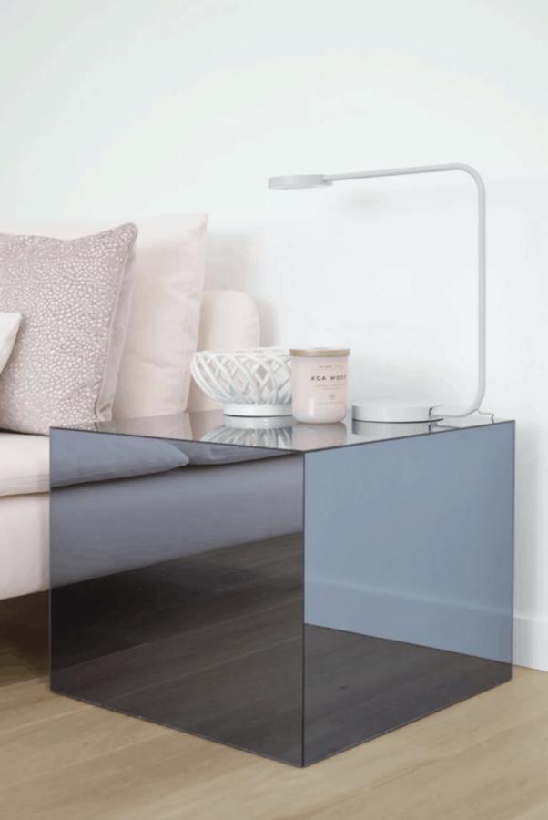 Plexiglass side table