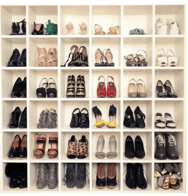 Expedit shoe rack DIY IKEA Hack.