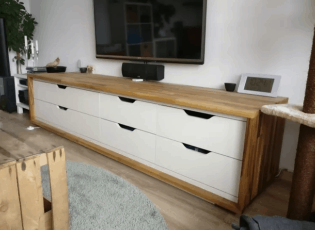 Long TV stand.