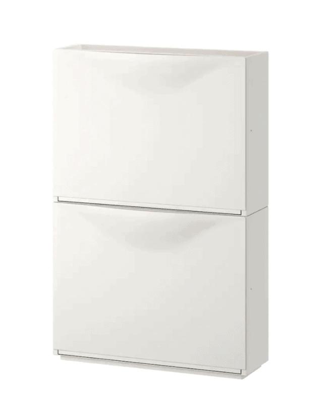 white IKEA Trones 2 drawer storage unit.