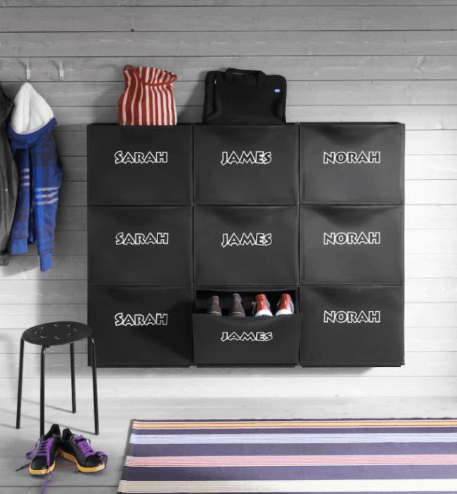 Black personalized IKEA Trones units.