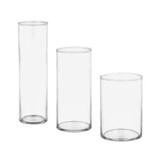 IKEA glass vases.