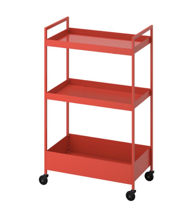 Orange IKEA Nissafors cart