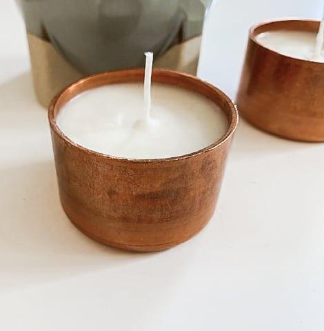 DIY Copper Candles