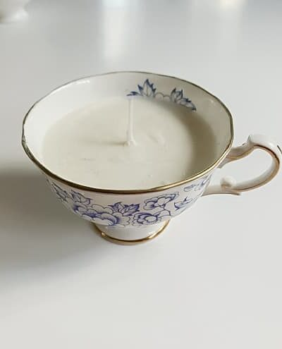 China teacup candle