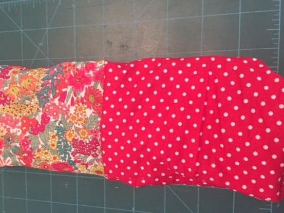 DIY glasses case sewing project