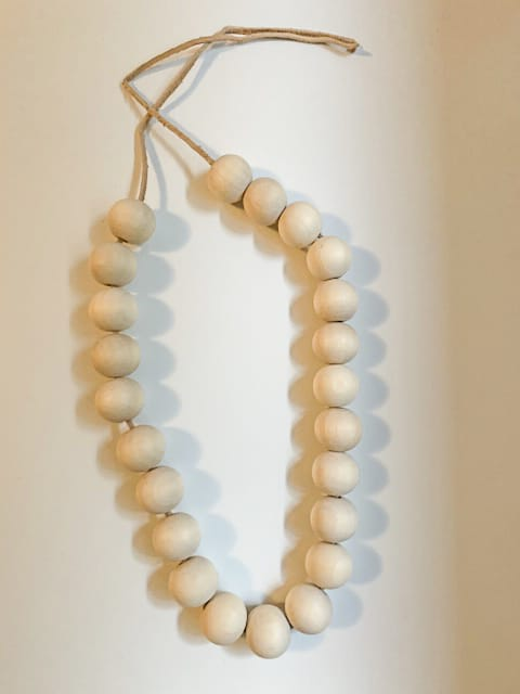 Wooden bead trivets