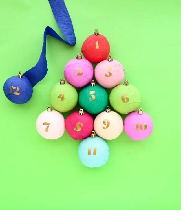 Surprise ball ornament Advent Calendar