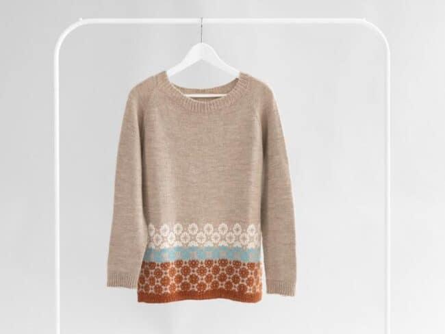 Falling Snow Sweater knitting kit #Bluprint #affiliate #knitting