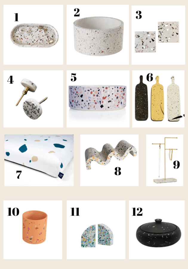 Terrazzo items for your home