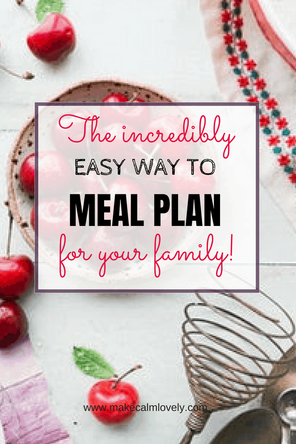The incredibly easy way to meal plan for your family. This totally free electronic app will make meal planning so much easier for you! #mealplanning #Cozi