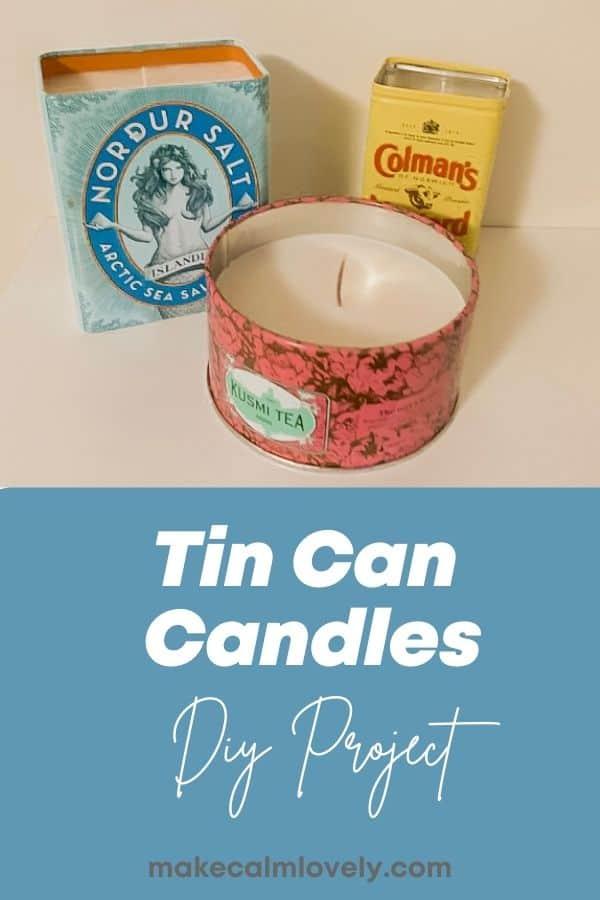 Tin Can Candles DIY