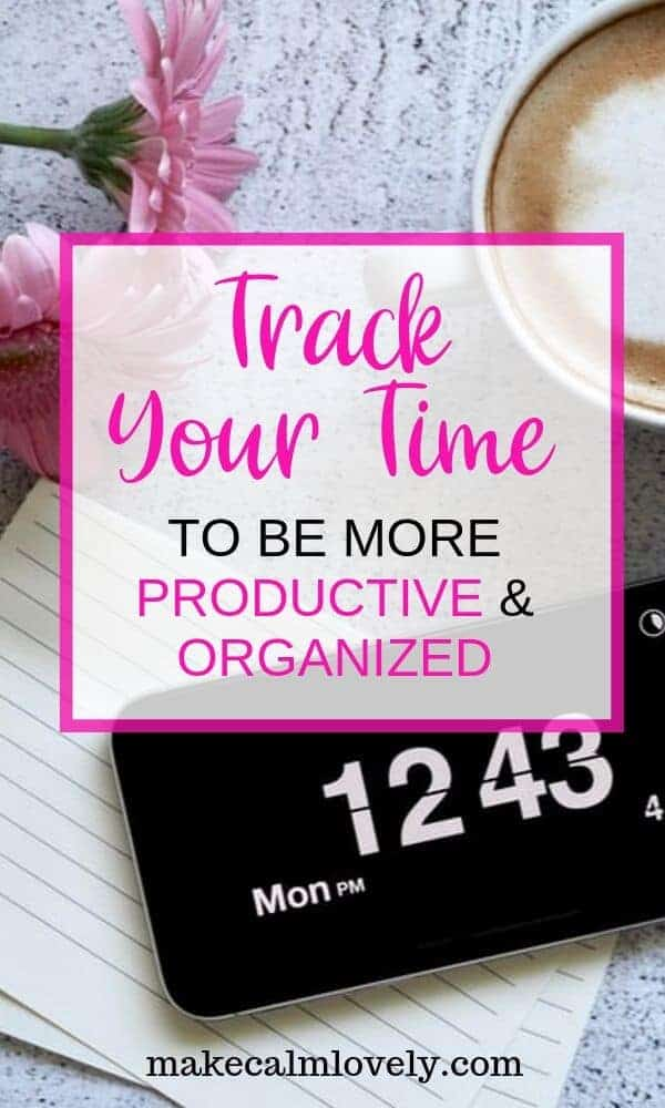 Track your time to be more productive and organized. Time tracking can really help get you on track. #timemanagement #timetracking #organizingtips