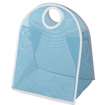 Blue fabric storage bag