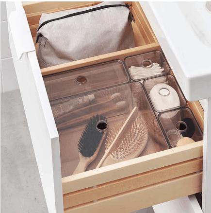 IKEA products & hacks to help organize your bathroom