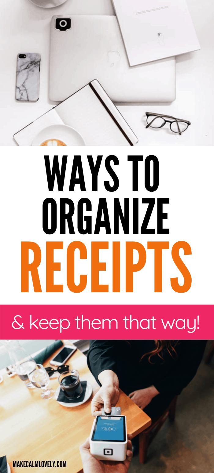 Ways to organize receipts (and keep them organized)