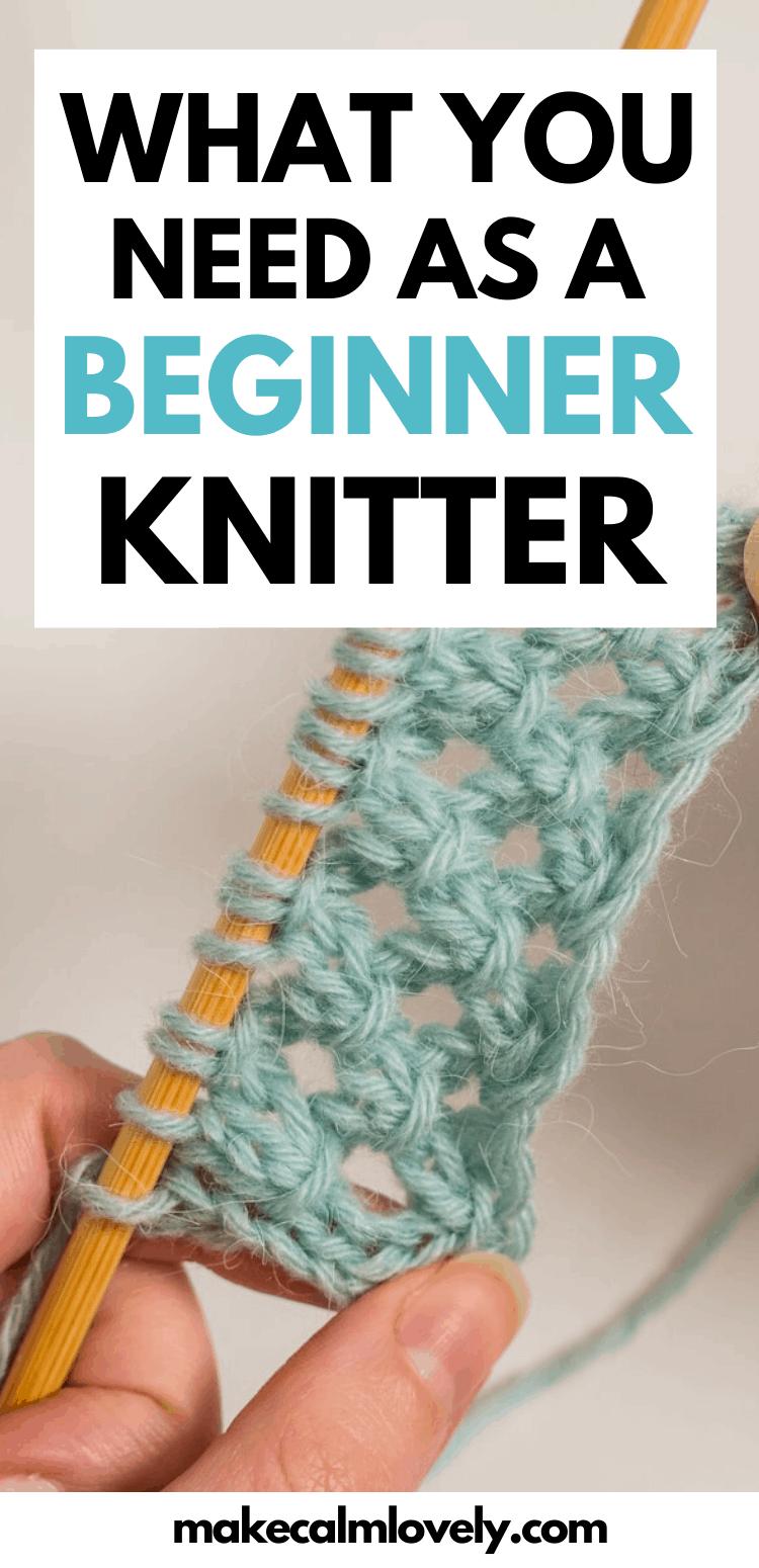 Beginner knitter