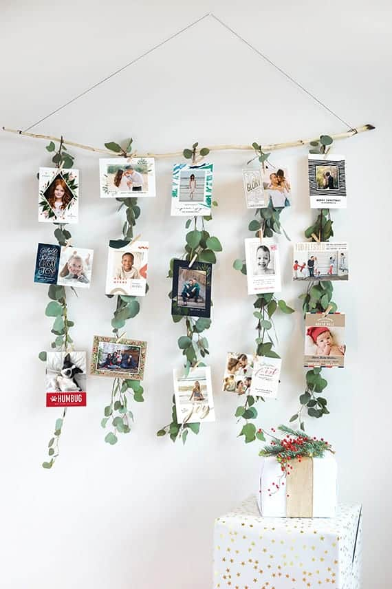 Beautiful Ideas for displaying your Christmas cards