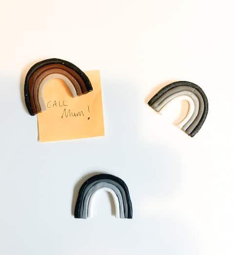DIY Clay Rainbow Magnets