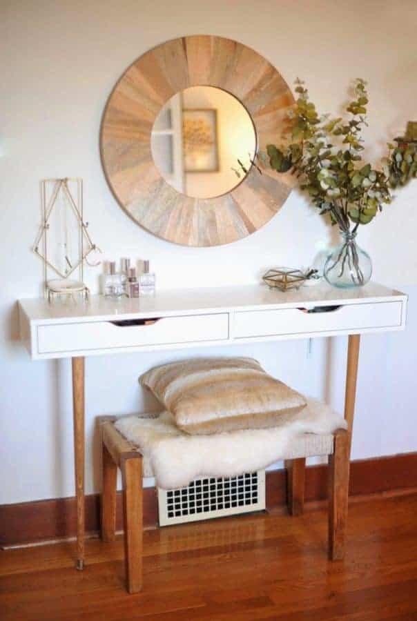 IKEA hack modern desk vanity