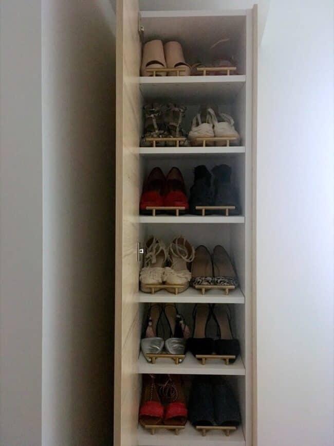 IKEA Hack tall shoe cabinet.