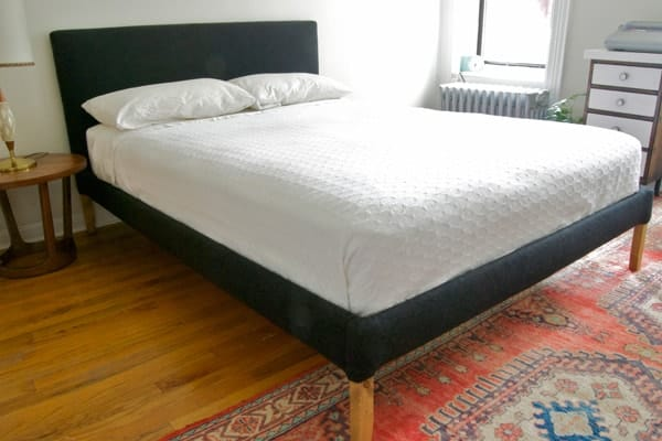 Ikea hack for upholstered bed