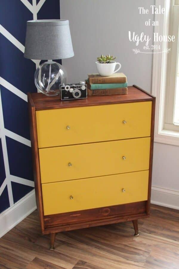 Sunshine yellow modern chest