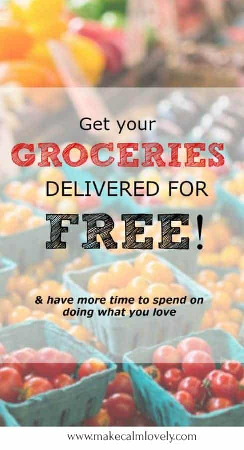 Get your groceries delivered for free