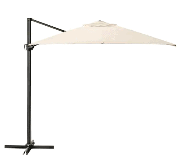 Hanging outdoor umbrella