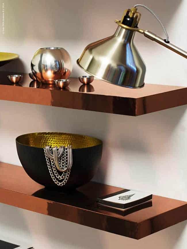 IKEA Copper Shelf Lack