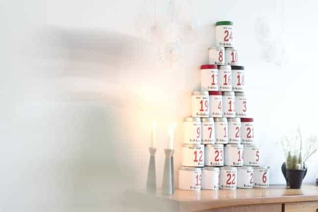 Coffee tin advent calendar