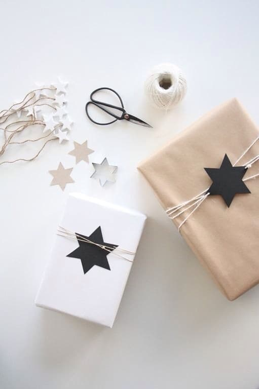 Beautiful & Easy Brown Paper Gift Wrapping Ideas for Christmas