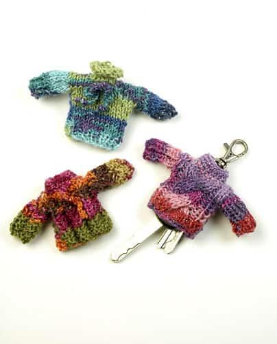 sweater knit keychain