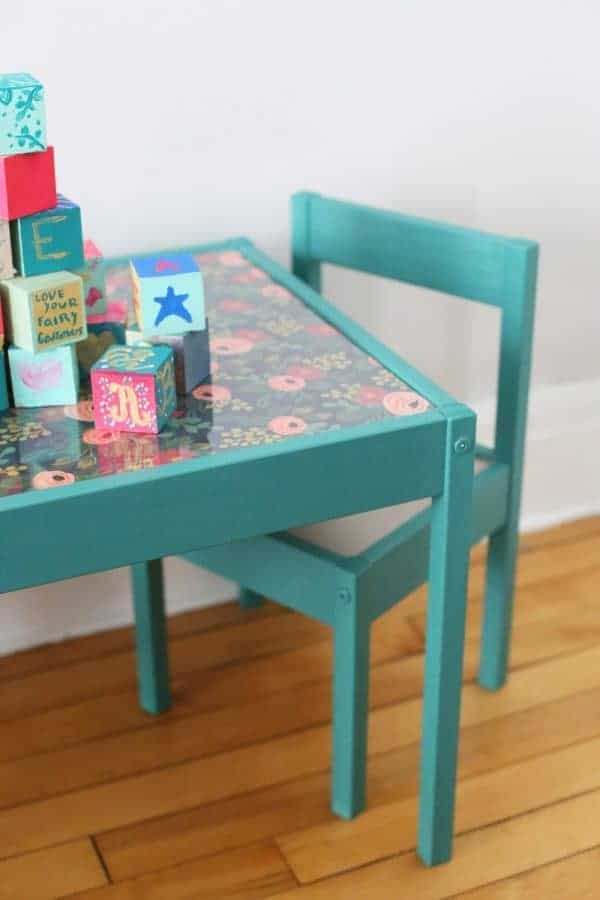 IKEA hack for kids table and chairs