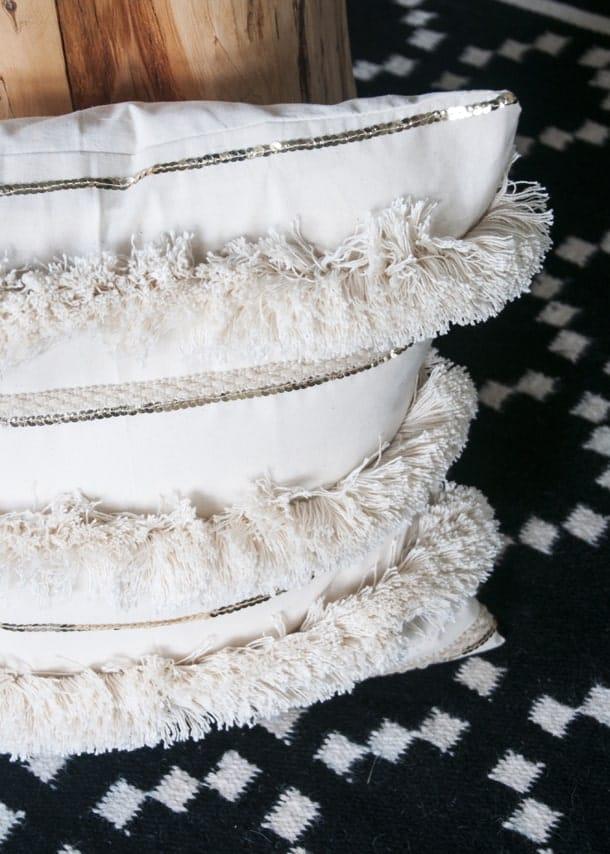 Anthropologie inspired Moroccan wedding blanket pillow