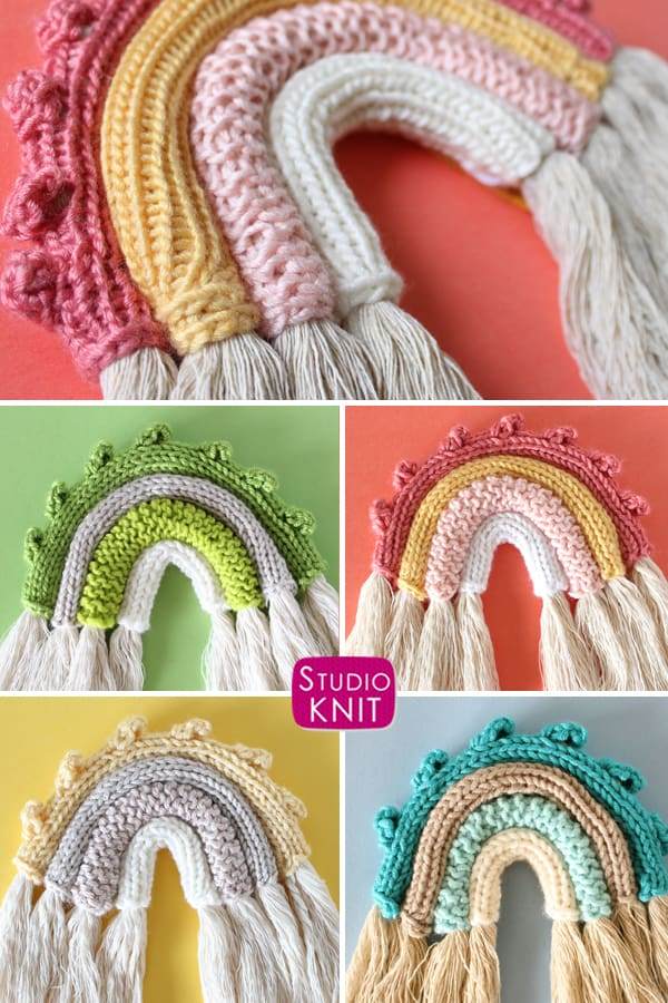 Knitted rainbow