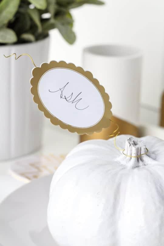Pumpkin DIY place setting