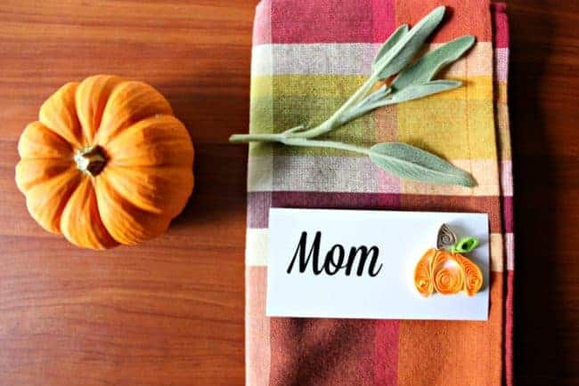 Paper quilling Thanksgiving project