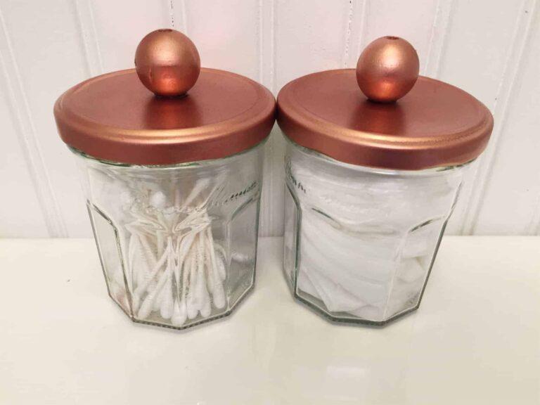 Recycled Glass Storage Jars DIY project