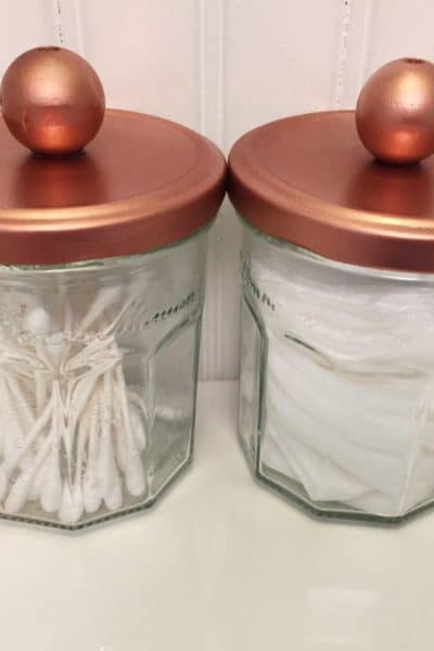 Classy storage jars made from recycled jars