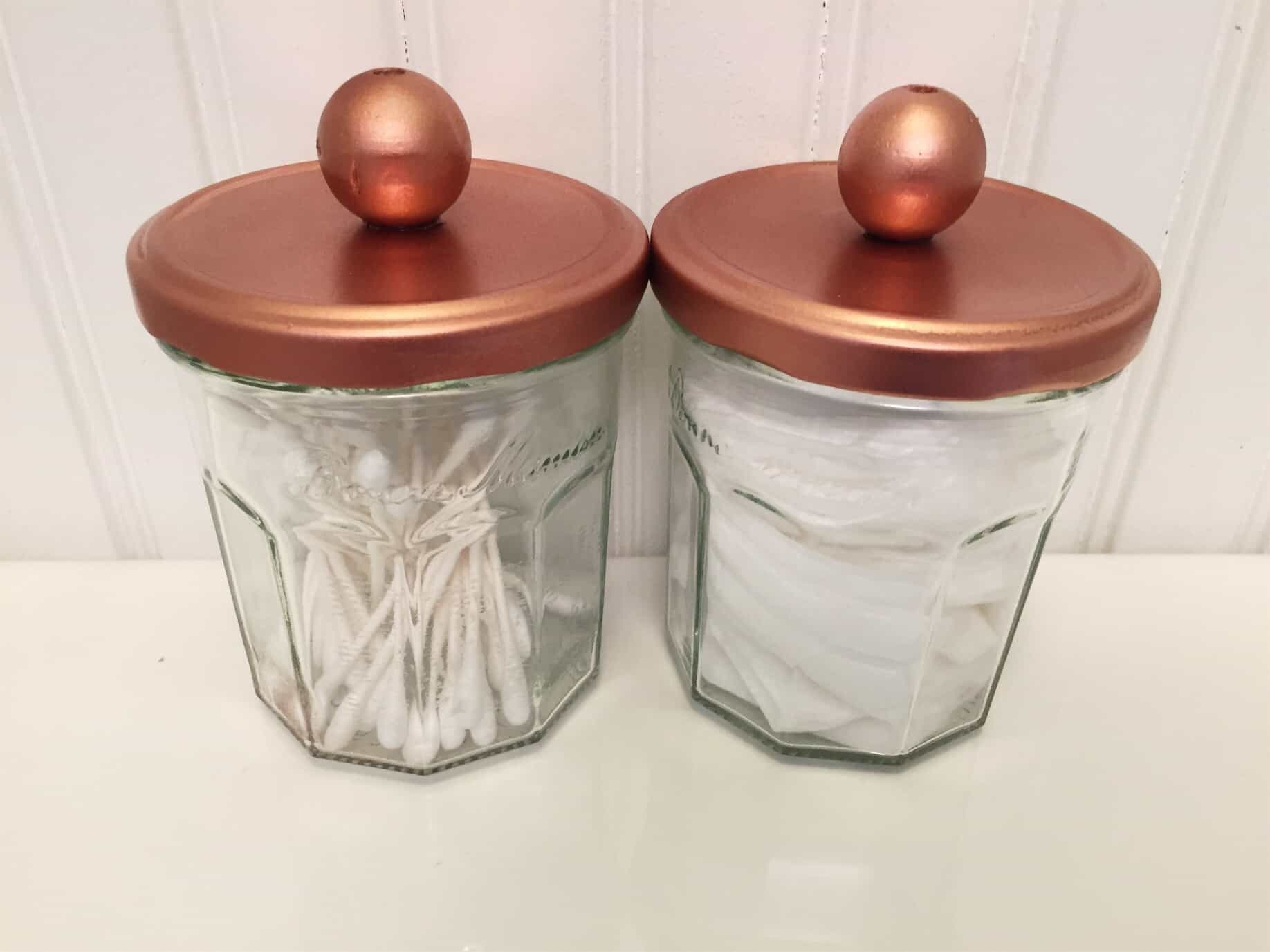 Recycled Glass Storage Jars Up Cycled And Made Beautiful