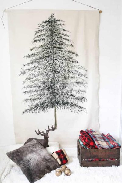 DIY Picture Christmas tree