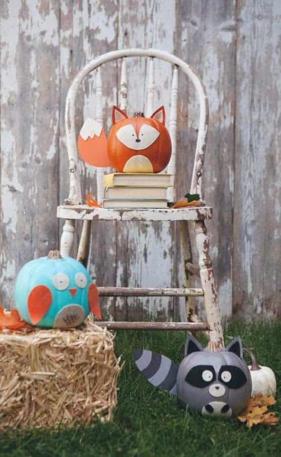 Woodland creatures pumpkin